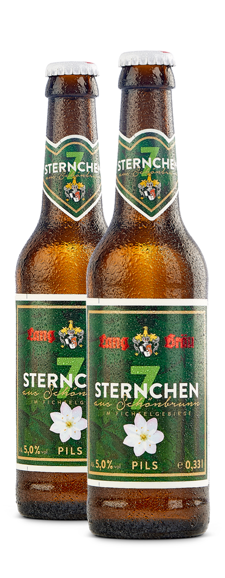 Siebensternchen Flasche Lang-Bräu